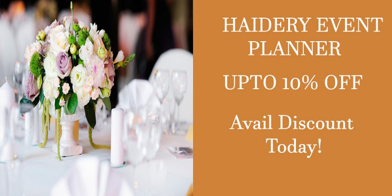 HAIDERY EVENT PLANNER