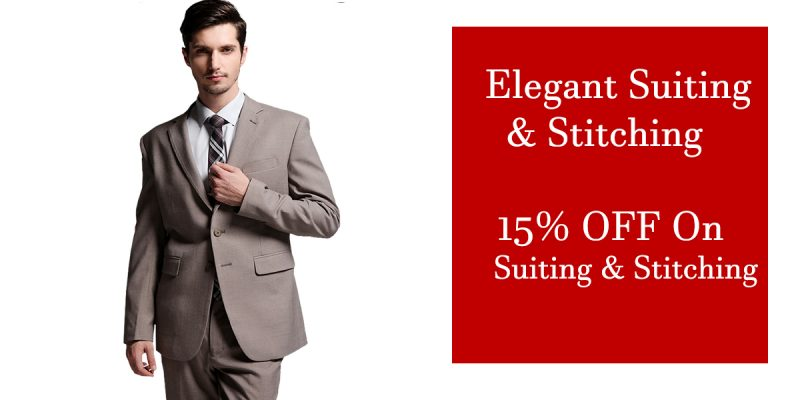 elegant suiting and stitching