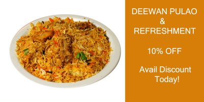 DEEWAN PULAO and refreshment